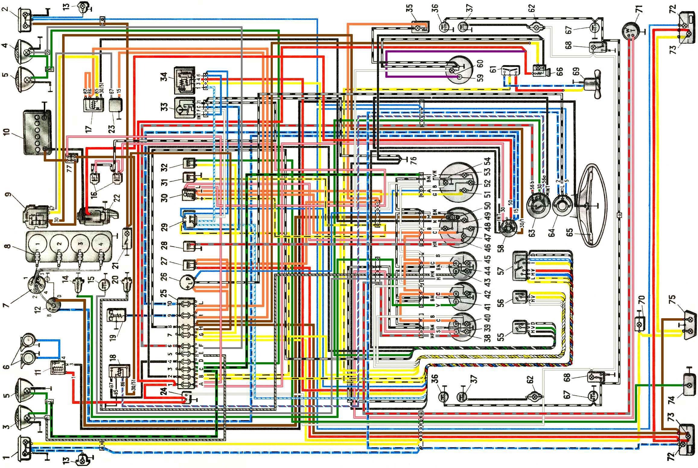 DataLife Engine Версия для печати Схема электрооборудования автомобиля ВАЗ-2103.