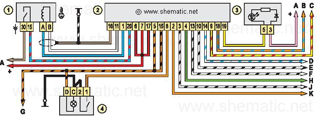 Схема соединений автомобильной