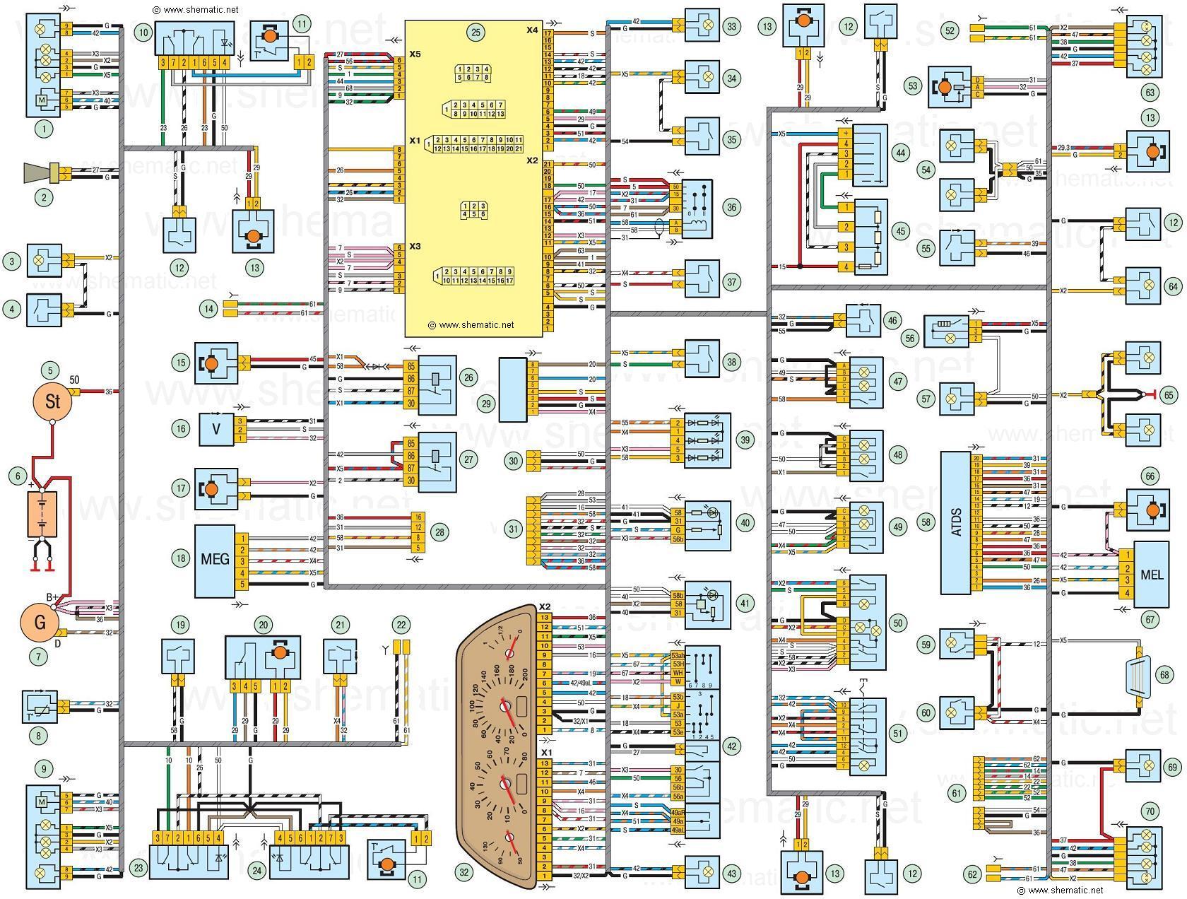 Схема электрооборудования автомобиля chevrolet niva ваз 2123