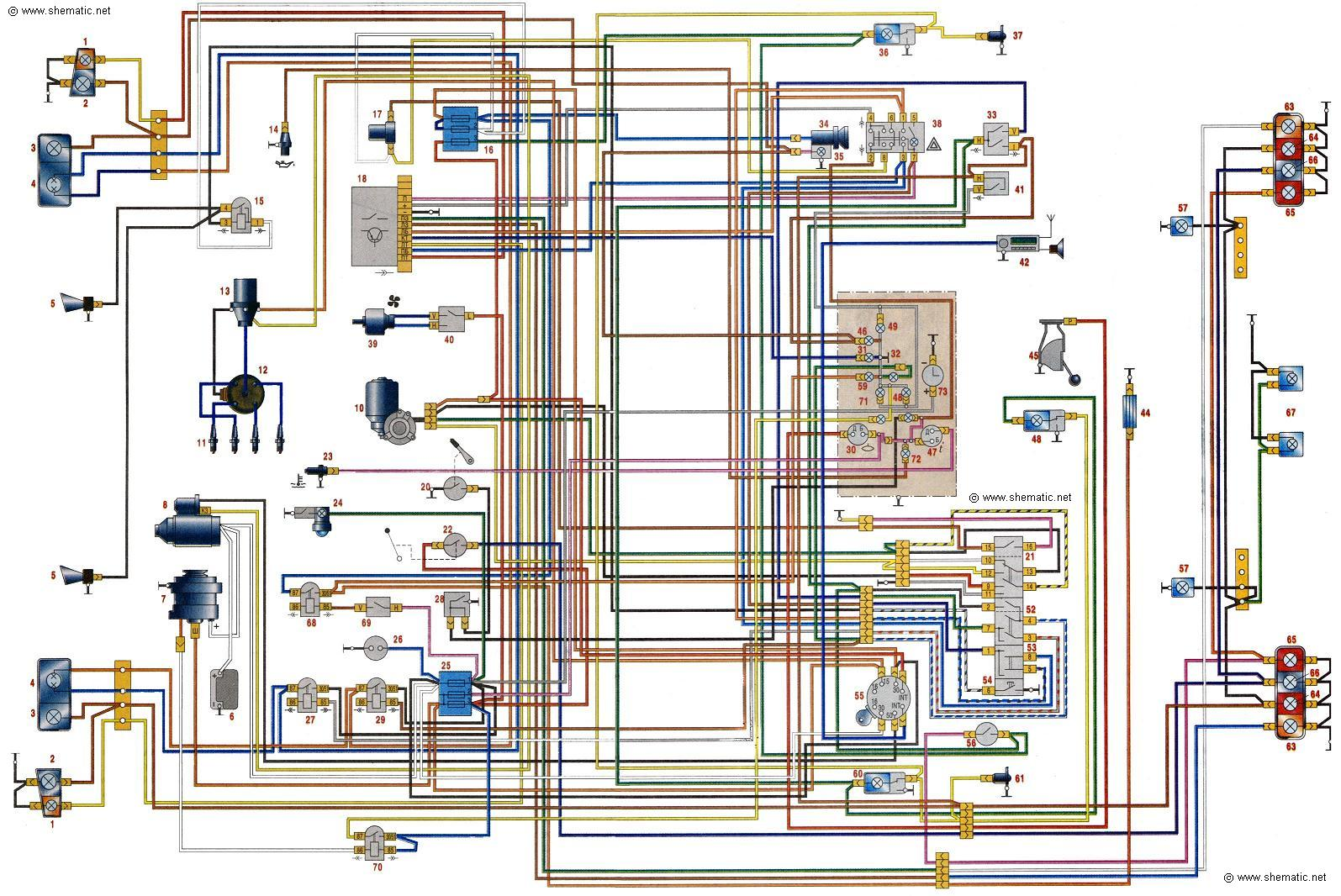 схема електропроводки москвич 2140люкс