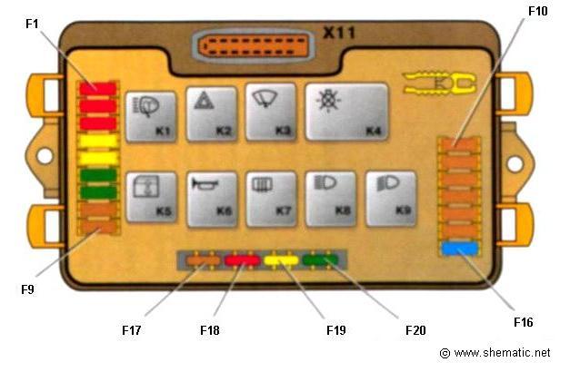 Реле и предохранители lt b gt монтажного блока ваз lt b gt 2109 lt b gt ваз lt b gt lt b gt 2108 lt b gt shematic
