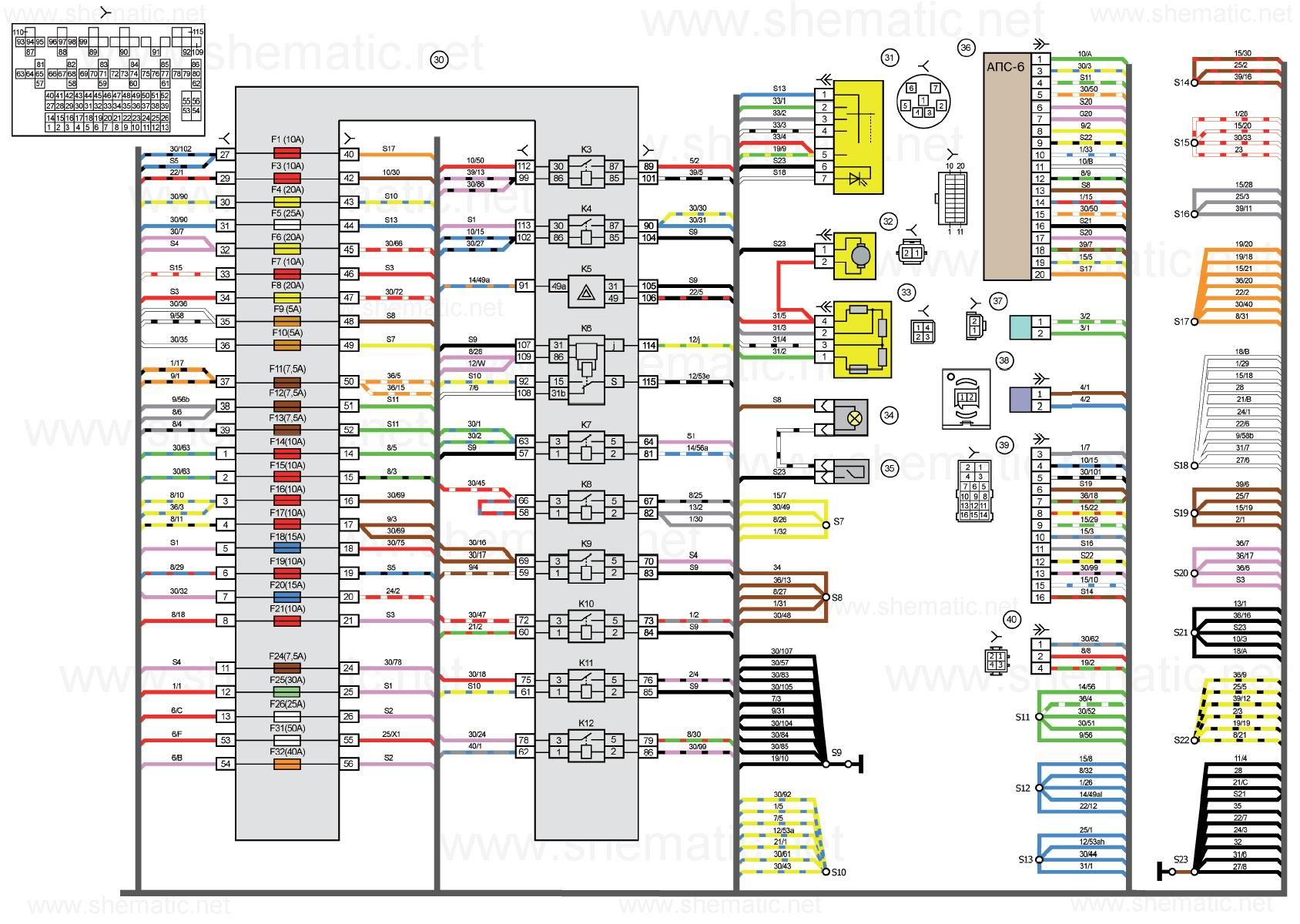 Приборная панель лады-калины схема