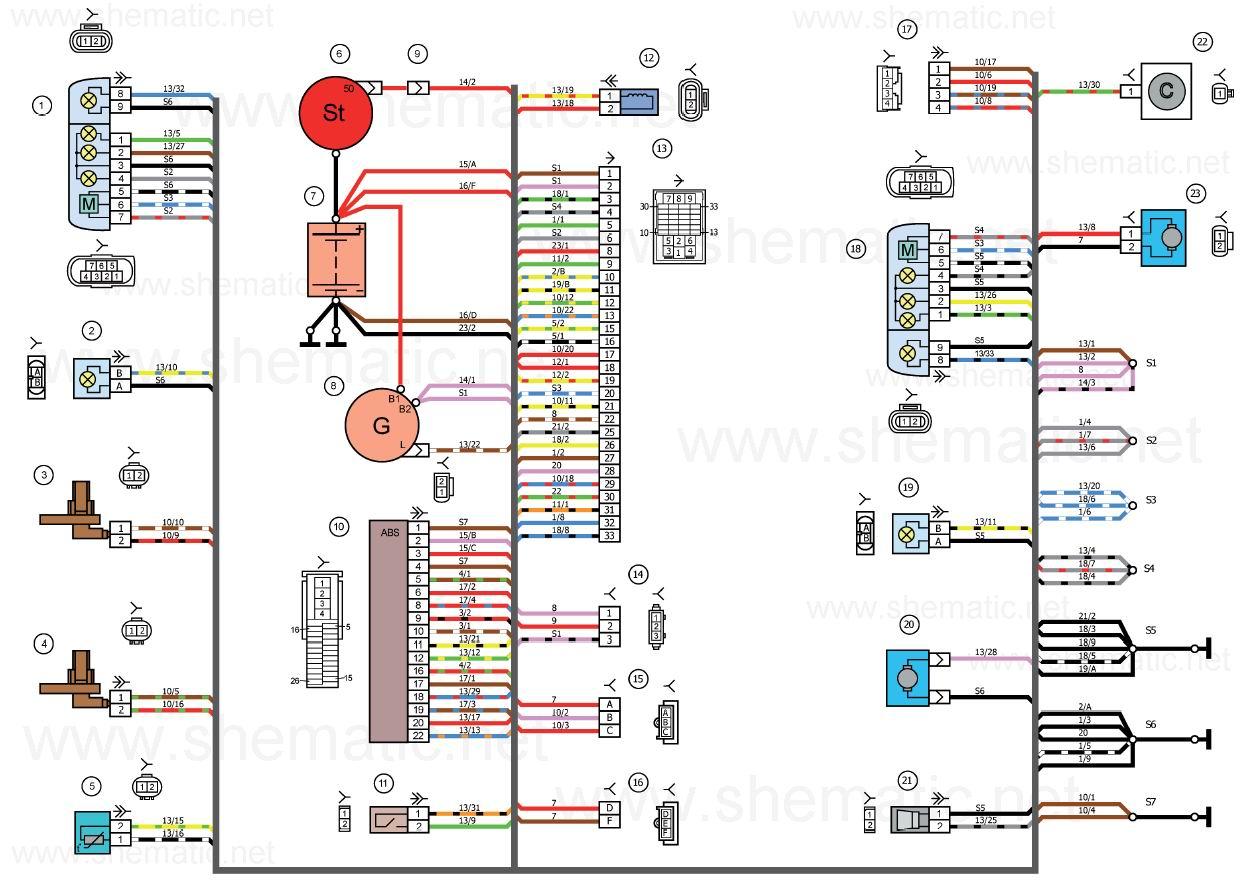 Схема датчика масла калина