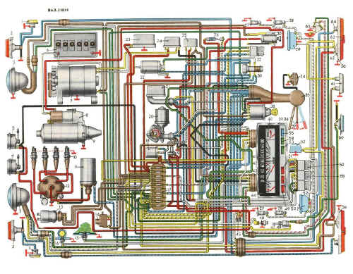 Принципиальная схема электрооборудования aveo