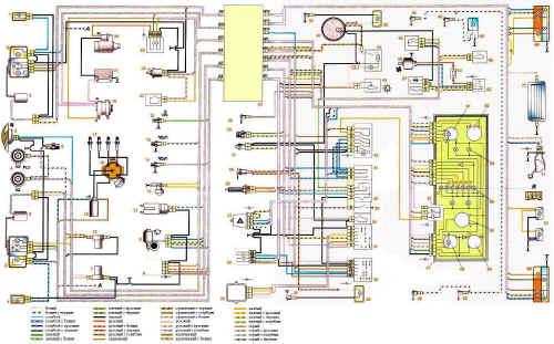 Схема проводки ваз 2107. 2-ые