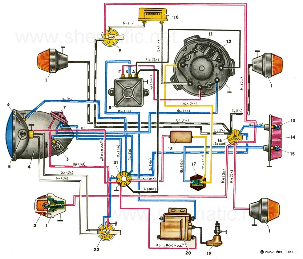 схема электрооборудования автобуса 24 вольта